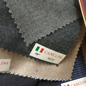 Italian Canclini herringbone cotton shirt fabric