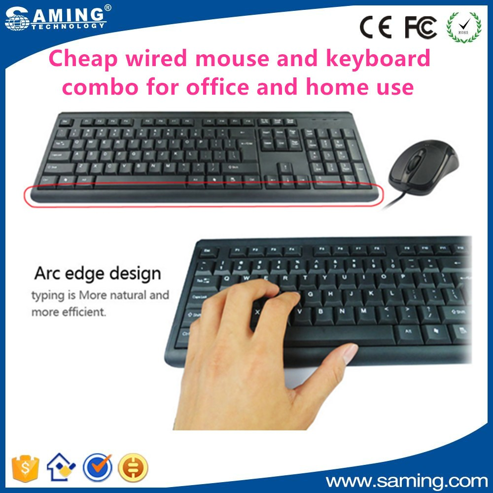 standard cheap wired mouse and keyboard combo for office and home use buy cheap wireless. Black Bedroom Furniture Sets. Home Design Ideas