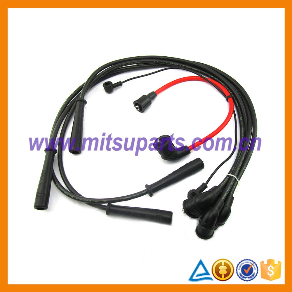 spark plug high tension cable set for mitsubishi pajero v12w v32w md997698 buy spark plug. Black Bedroom Furniture Sets. Home Design Ideas