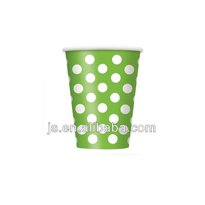Yiwu Lovely Green Paper Tea Cups OEM