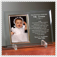 Beveled Glass Baptism Photo Frame Souvenir For Return Gifts