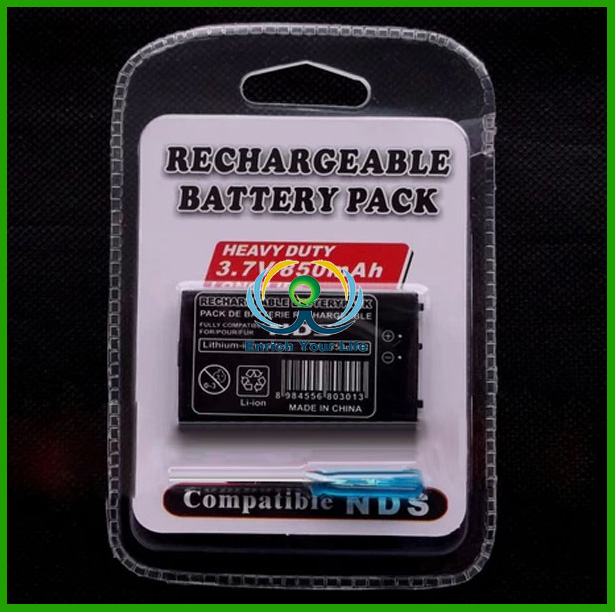 Rechargeable Battery Pack Power Supply for NDS 3.7V 850mAh