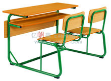 Morden Design Panel Top Metal Frame Double Seat School Student Desk and Chair