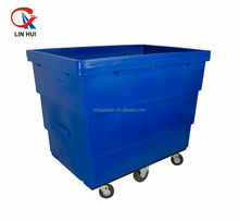 plastic laundry cart on wheels for laundry storage solutions