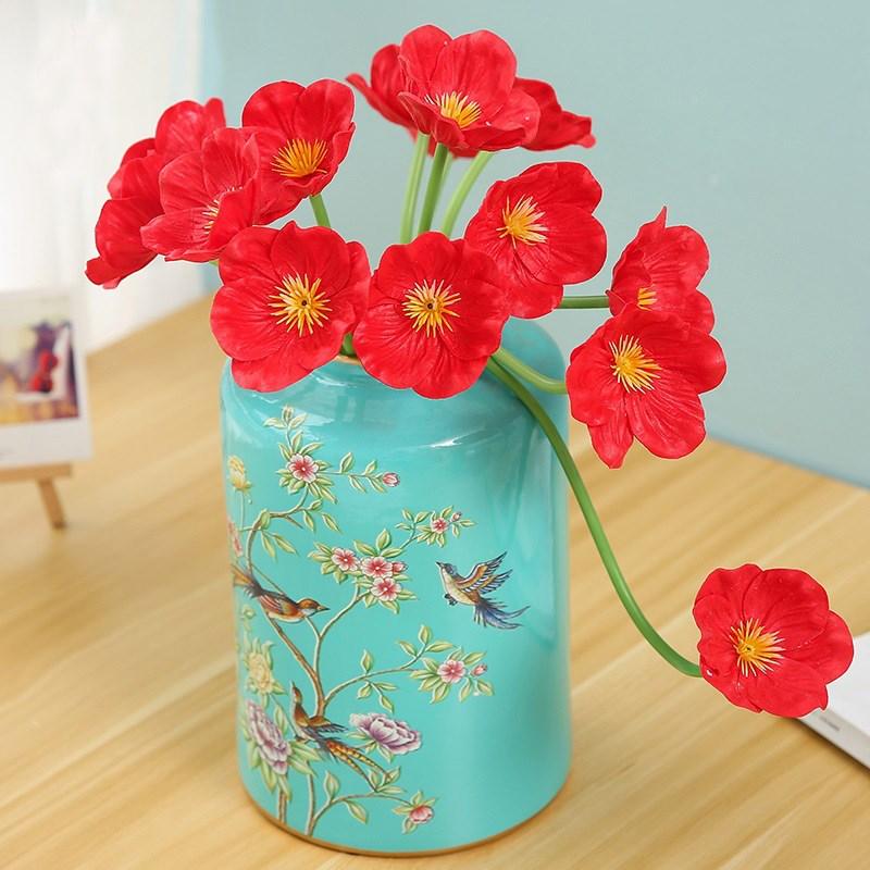 Fresh touch pu poppy flowers artificial poppy stems small artificial fob ningbo port mightylinksfo