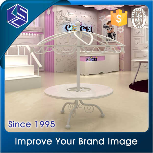 New products kid's garment store fixture newly baby clothes display stand