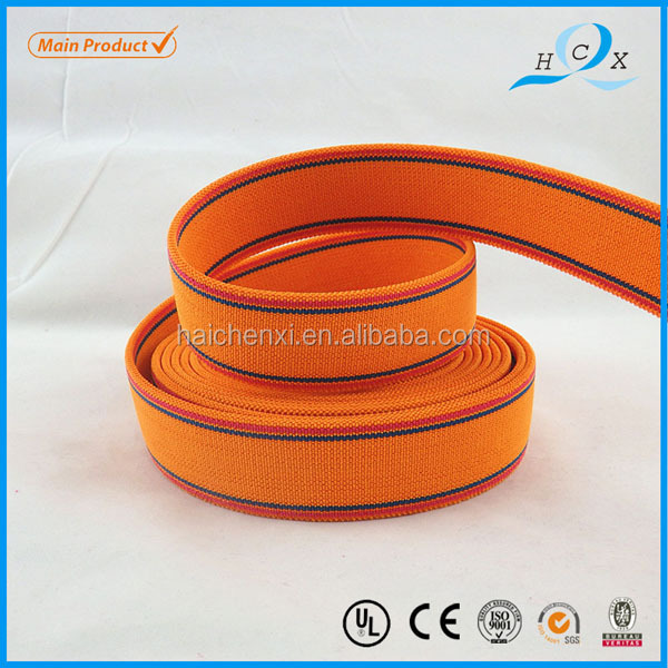 Wholesale Polyester Orange Color Elastic Band For Garment