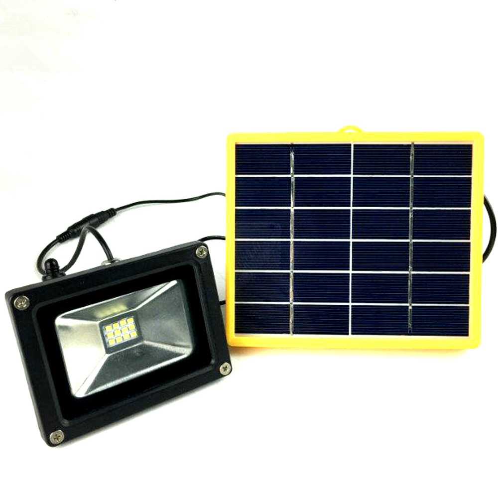 Waterproof 10w outdoor solar power led flood light with - Led light bulbs for exterior use ...