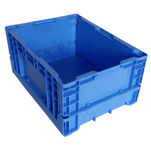 large plastic folding crates for fruit and vegetable solid side plastic collapsible crates cheap for sale China manufacturer