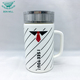 OEM custom eco friendly white porcelain mug ceramic cup with cover