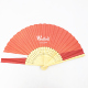 Hand Held Fans Paper Bamboo Folding Fans Handheld Folded Fan for Church Wedding Gift, Party Favors, DIY Decoration