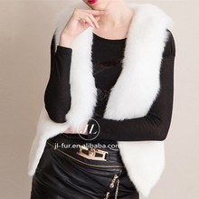 Hot Sale Popular Women Mink Fur Gilet with Genuine Fox Fur Collar