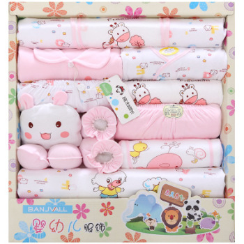 2019 cotton fabric new born baby clothes gift set
