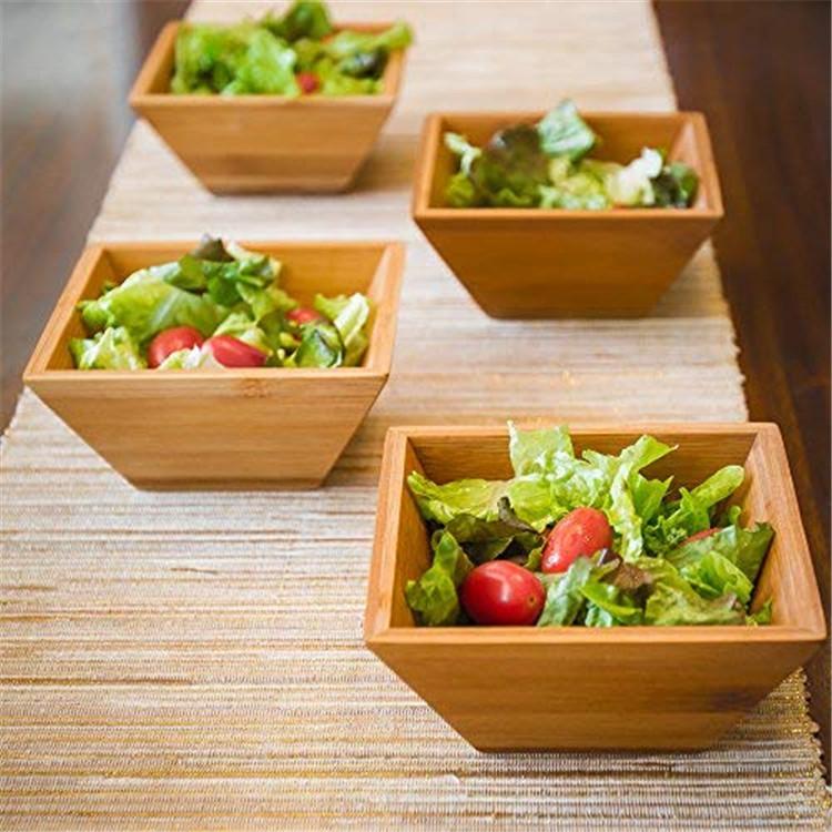 Bap Free Organic Wood Bamboo Salad Bowl