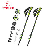 Hitorhike Mountain Tech Trekking Poles Telescope Pole Carbon Fiber Walking Stick