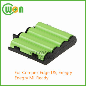 4.8V 2000mAh Ni-MH 4H-AA1500 941210 replacement rechargeable battery for Compex Edge US Enegry Enegry Mi-Ready