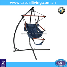 Swing hanging Air Hammock Chair X/ C Frame Stand Camping Outdoor Indoor Hammock and Stand-Navy blue