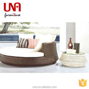 Una hookah lounge furniture rattan chaise outdoor round sunbed lounger designs