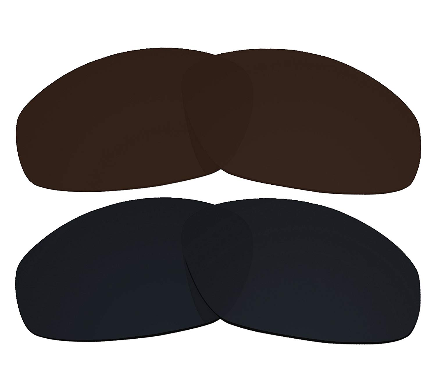790db10c802 Get Quotations · 2 Pairs COLOR STAY LENSES 2.0mm Thickness Polarized  Replacement Lenses Black   Brown for Oakley