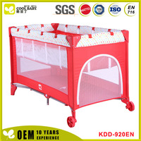 New design Baby Natural Bassinet Plastic Baby Playpen With Canopy And Toys Bar