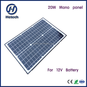 Wholesale 20W Watts Mono Solar Panel Off Grid 12 Volt 12V RV Boat ...