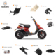 Direct factory wholesale lml external scooter chrome parts of motorcycle