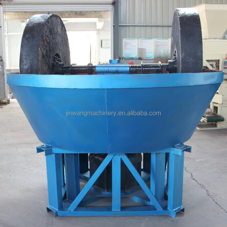 Egypt Popular Double Wheel Dressing 1000 Wet Pan Mill or Gold Grinding Machine