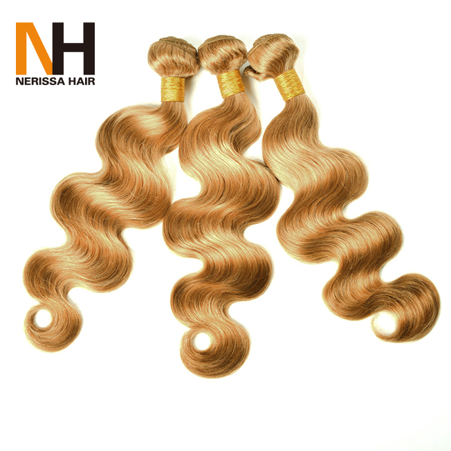 Top Quality Hair Weaving Remy Malaysian Blonde Hair Extensions 613