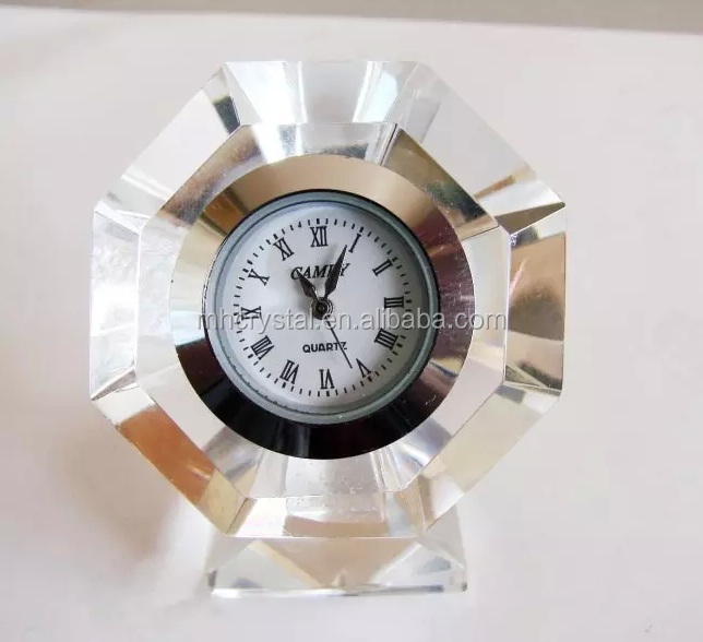 Mini Quartz Crystal table clock MH-C0185