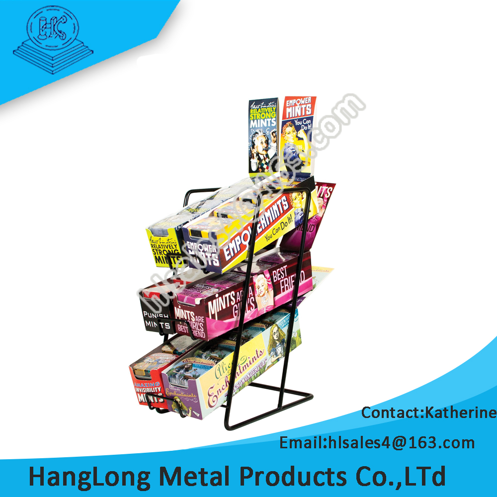 durable metal wire tabletop display stand