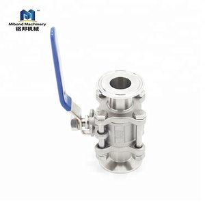 Astm Ce Sanitary Stainless Steel 304/ 316L 3 Way Ball Valve