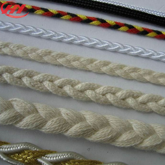 Handle Rope for Packing PP Colored Braided Nylon Cotton Braid Rope for Apparel
