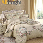 ALLBRIGHT sateen fabric made duvet cover set 3d printed bedding set 3pcs cotton bed sheet
