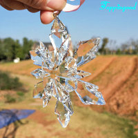 Personalized Crystal Clear Snowflake Ornament For Decoration&Gift