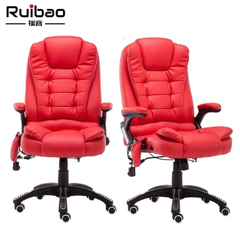 Full Red Design Comfortable Recliner Chair Office Chair Massage
