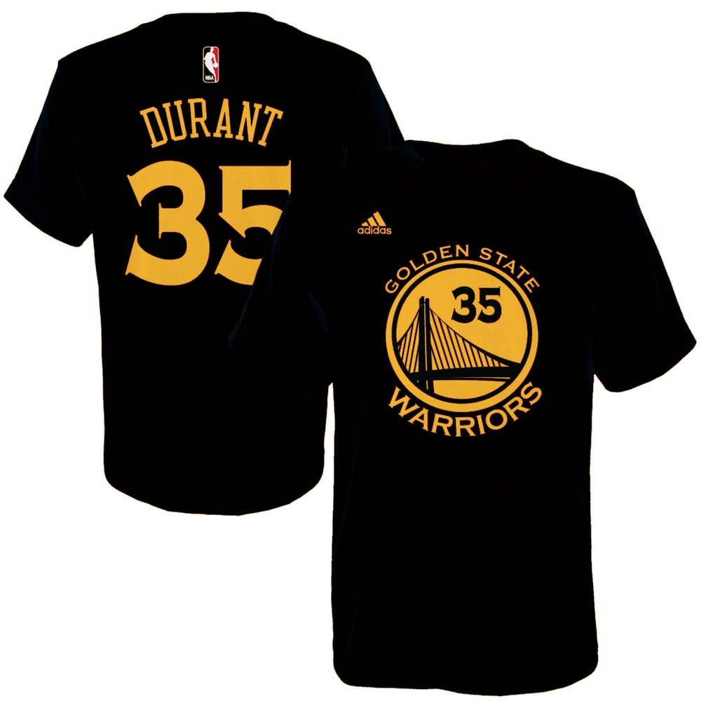 4551a7203 Kevin Durant Golden State Warriors  35 NBA Boys Name and Number Jersey T- shirt