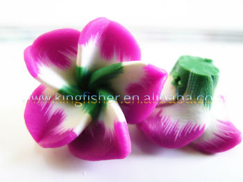 Newest Designs Polymer Clay Plumeria Clay Flowers Beads,15mm Rose ...