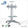 stainless steel and glass tv stand with bracket furniture for LED LCD