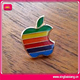 Hot sell beautiful apple logo lapel pin badge for clothing collar