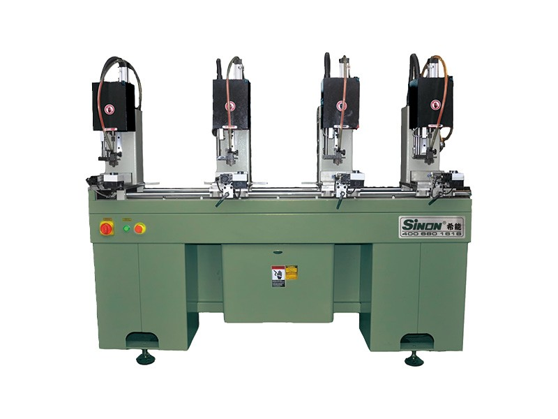 Reinforcement screw drilling making machine for pvc window and door
