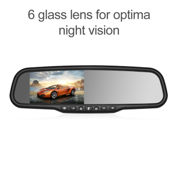 4.3 Inch Full HD 1080p dash cam car mirror Video Recorder Rear View Mirror monitor