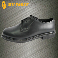new design black high quality genuine leather police office shoes UK