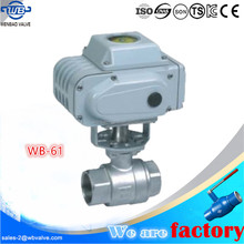 WB-61 Electric actuated 2-pc threaded ball valve pn63