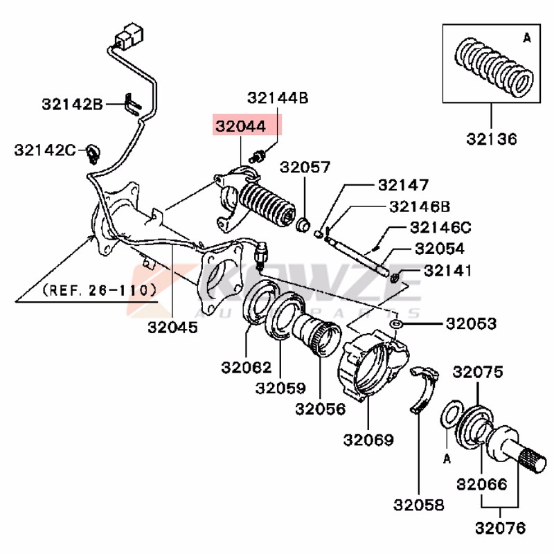 mitsubishi pajero io suspension parts