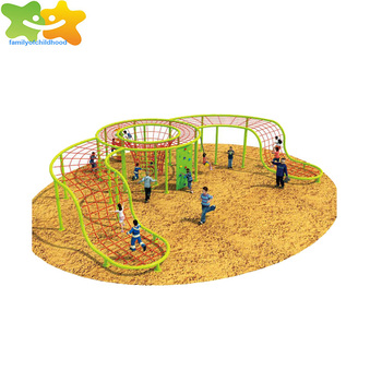 children outdoor climbing net with climbing wall