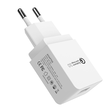 QC3.0 Quick Charge usb cable charger 18W Max Qualcomm 3.0 USB Wall Charger Adapter