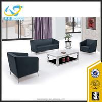 Luxury leather sofa office furniture reception room PU sofa set