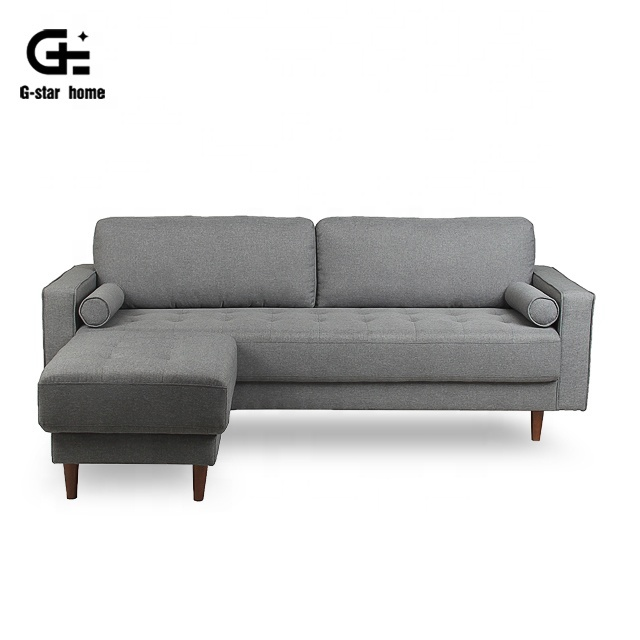 Linen Fabric Corner Sofa Bed For Small