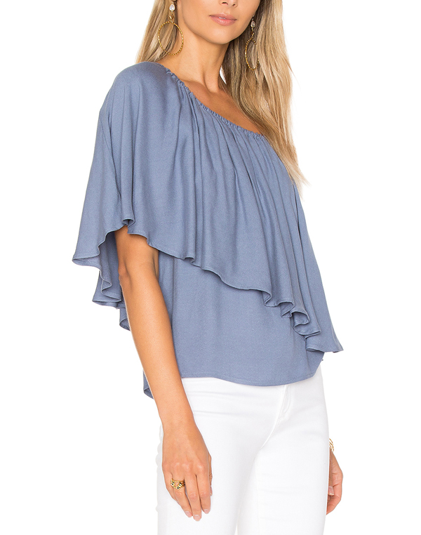 One Shoulder Ruffle Blouse, One Shoulder Ruffle Blouse Suppliers and  Manufacturers at Alibaba.com