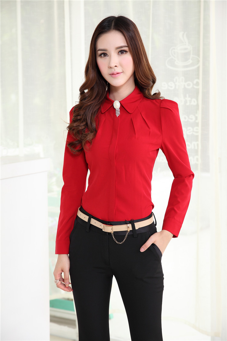 fc68c11740f0 Plus Size Spring Autumn Professional Business Suits With Blouses And Pants  Uniform Design Office Ladies Clothing